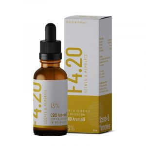 CBD oil 13% with cinnamon flavour and vitamin E